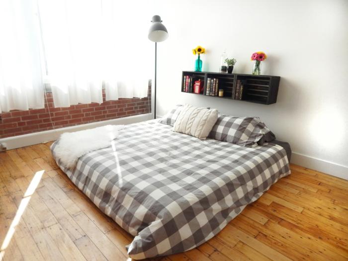 wandregal selber bauen schlafzimmer kreative wohnideen