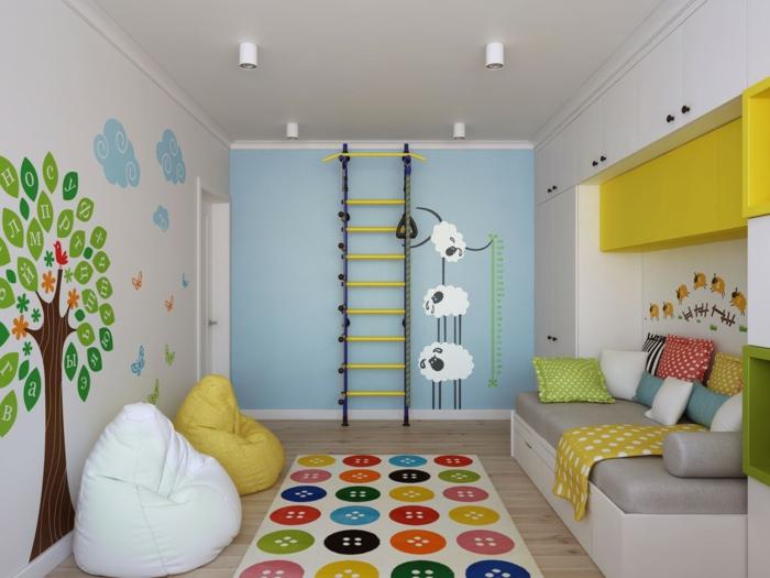wandtattoos farbige wandgestaltung kinderzimmer wohnideen wanddeko