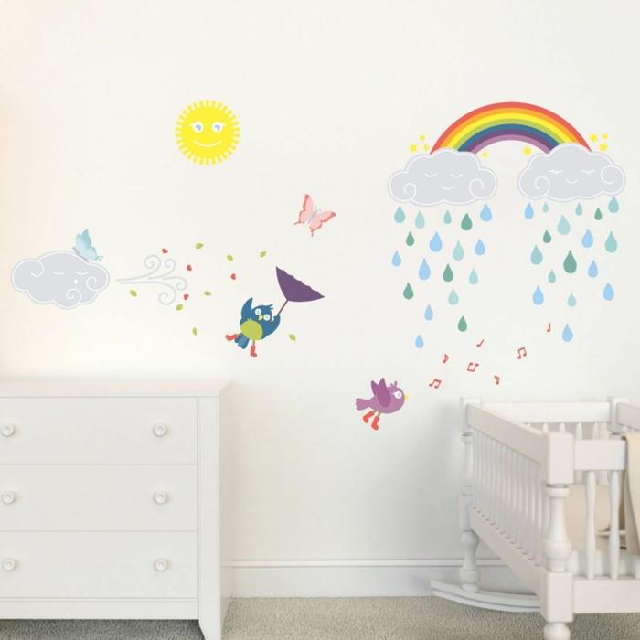 wandtattoo kinderzimmer farbige wanddeko teppichboden