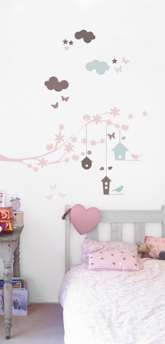 wandtattoo kinderzimmer wandgestaltung ideen lustig mädchenzimmer