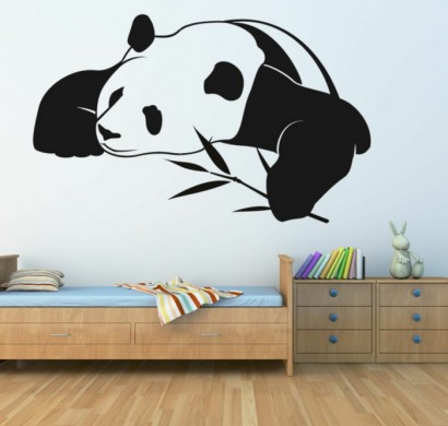 wandtattoos-panda-niedlich-kinderzimmer-wandgestaltung-ideen