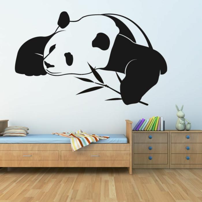 wandtattoos panda niedlich kinderzimmer wandgestaltung ideen