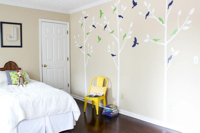 wandtattoo schlafzimmer schöne wanddeko wohnideen