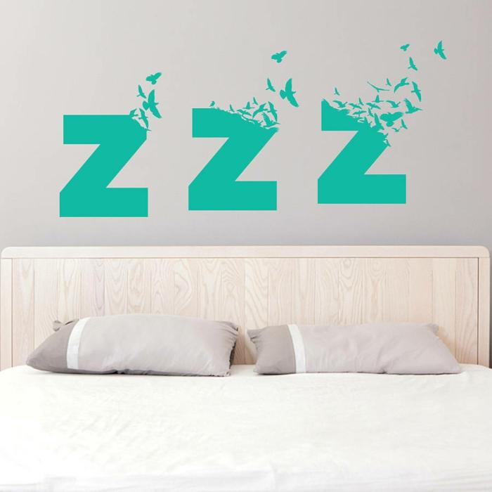 wandtattoo schlafzimmer wohnideen wände gestalten