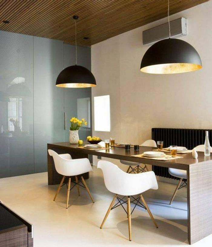 wohntrends wohnideen esszimmer pendelleuchten skandinavische stühle