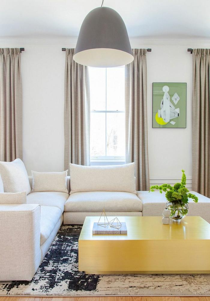 wohntrends wohnzimmereinrichtung ideen weiße möbel pflanzen teppich