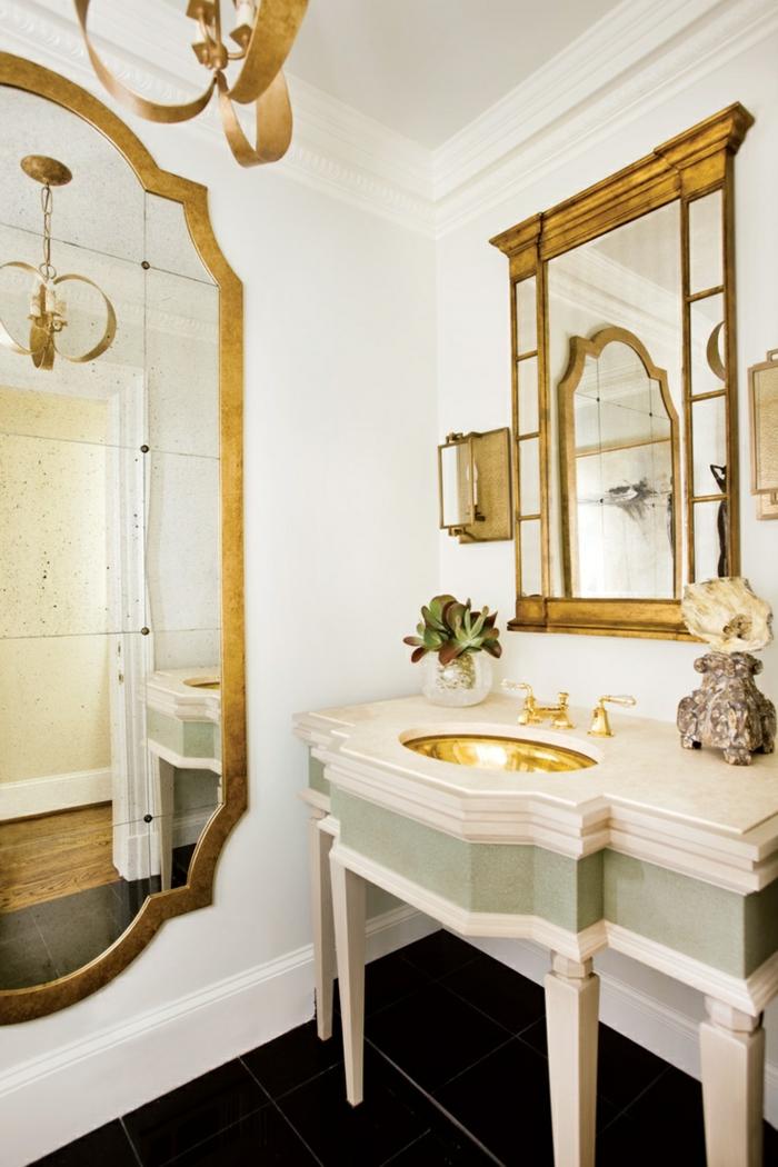 wohnung dekorierenbadezimmer accessoires großer wandspiegel