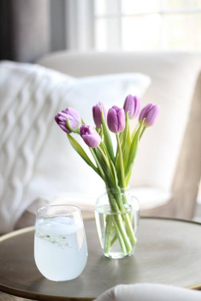wohnung dekorieren blumen tulpen wohnideen dekoideen
