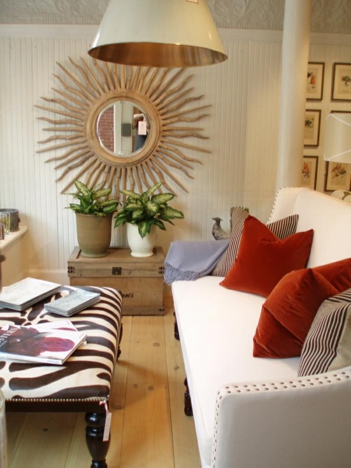 Elegant Wohnung Dekorieren Wohnideen Wohnzimmer Holzboden Dekokissen