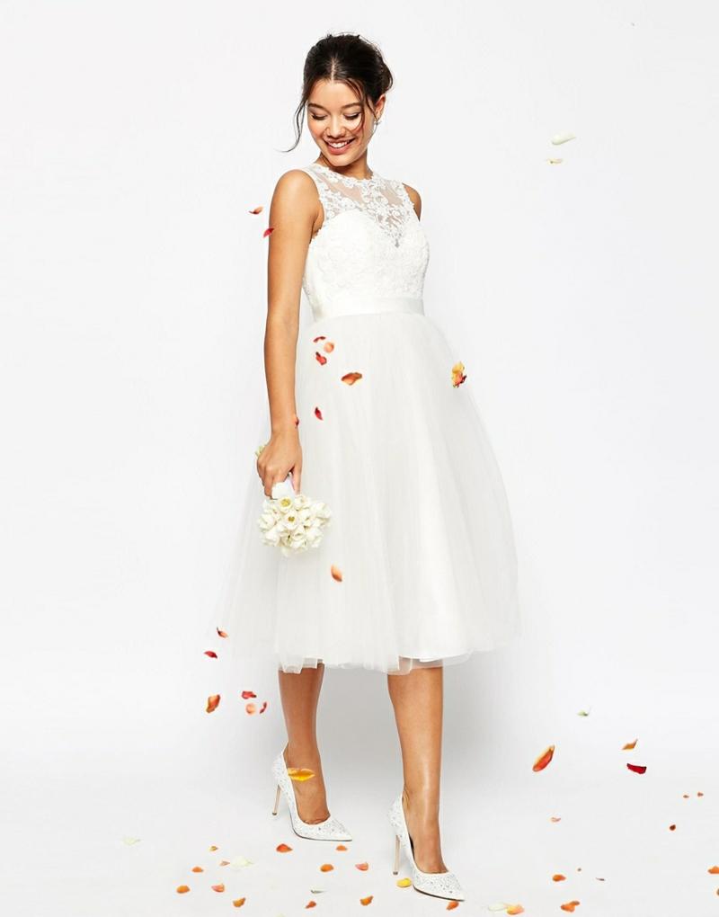 ASOS Brautmode Kleid für Standesamt knielang elegant