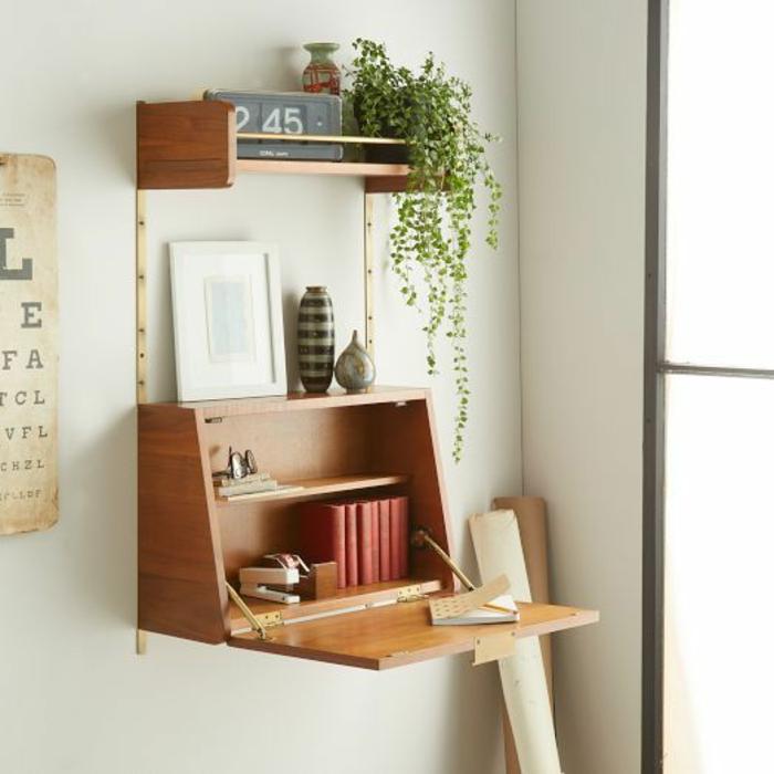 Büromöbel Klappschreibtisch Holz kleines Home Office