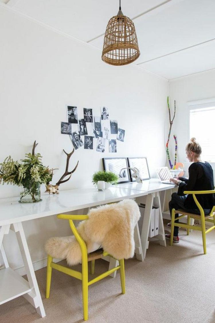 Büromöbel ergonomische Stühle Home Office skandinavisch einrichten