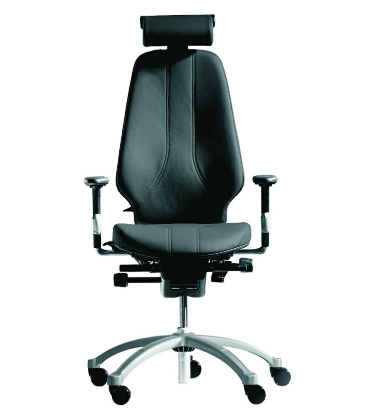 Büromöbel ergonomische Stühle Leder Bürostuhl schwarz