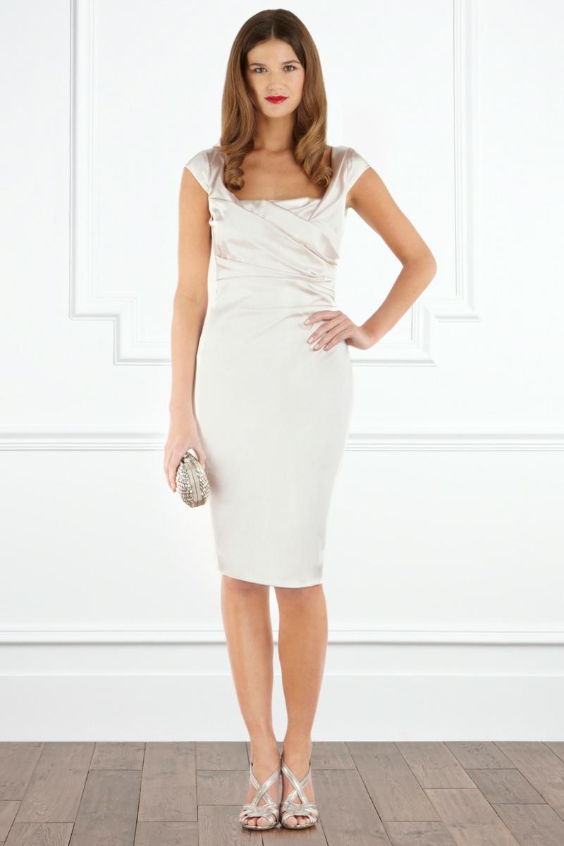 Brautmode Kleid für Standesamt knielang elegant