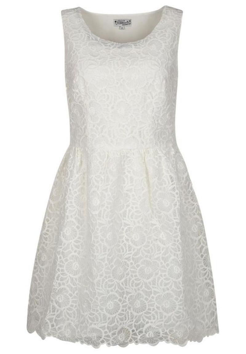 Brautmode Kleid für Standesamt kurz schlicht formell