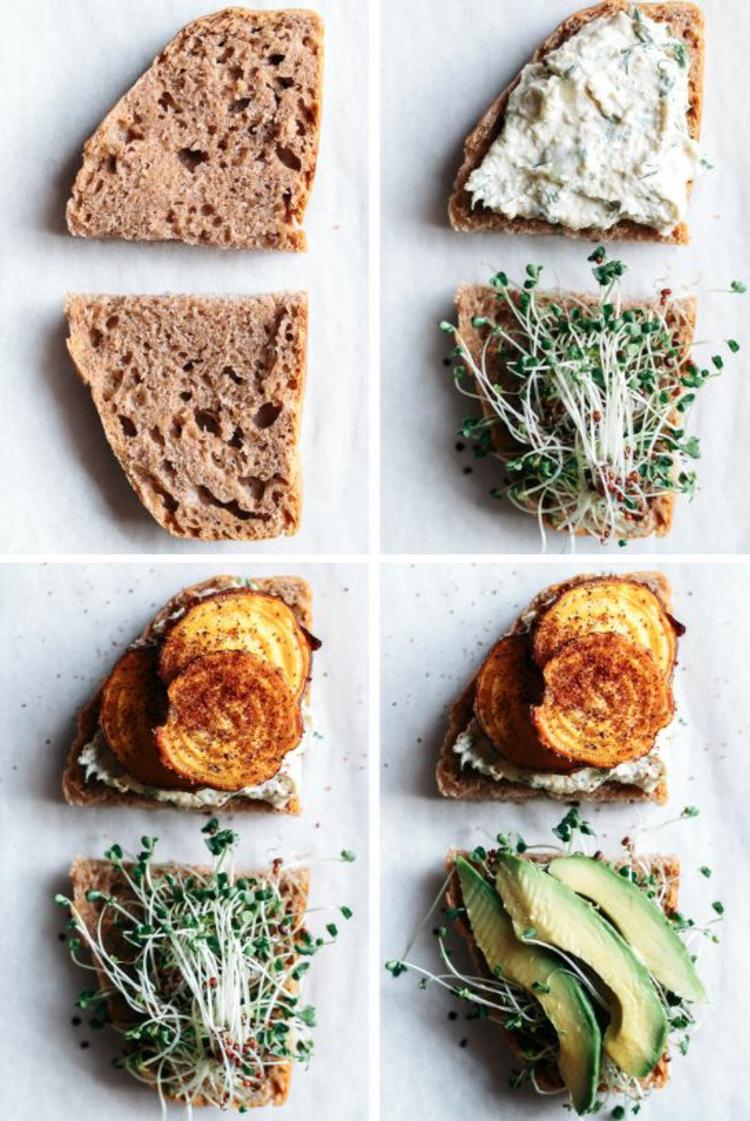 Brot mit Rote Beete Sprossen gesunde Ernährung Tipps