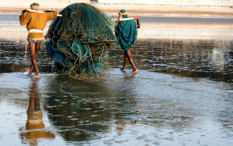 Chandipur Beach Odisha Indien die schönsten Strände der Welt