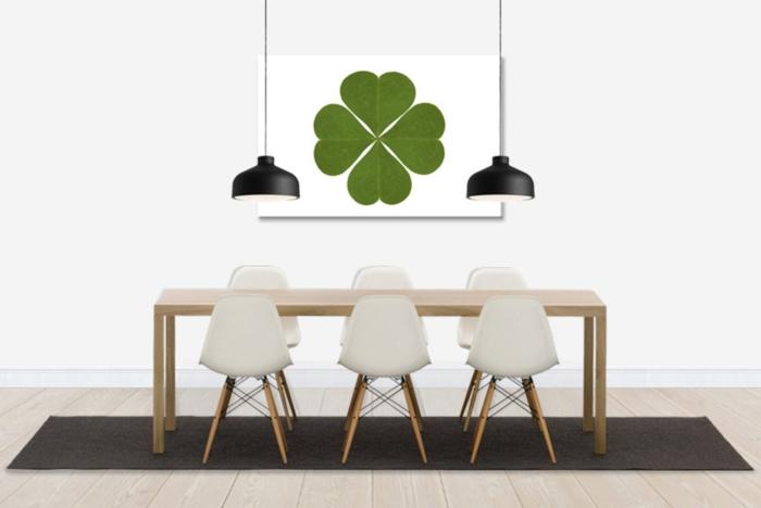 Clover wanddesign wanddeko kleeblatt grün