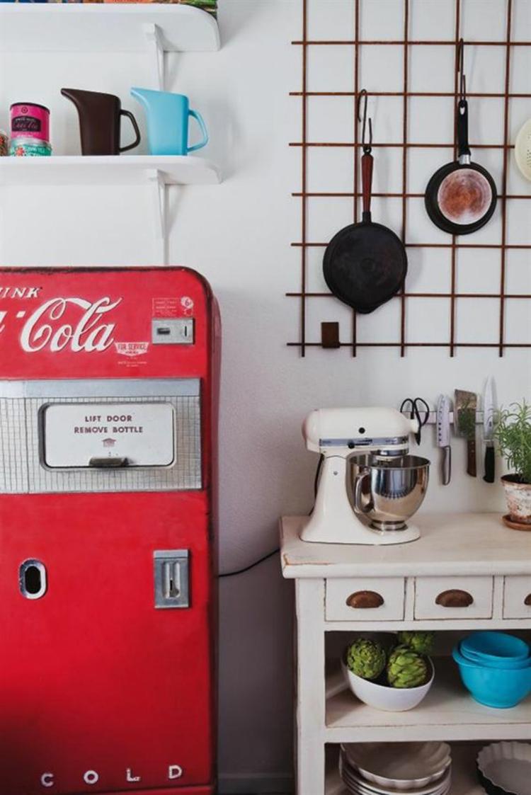 Coca Cola Kühlschränke retro rot Küchngestaltung
