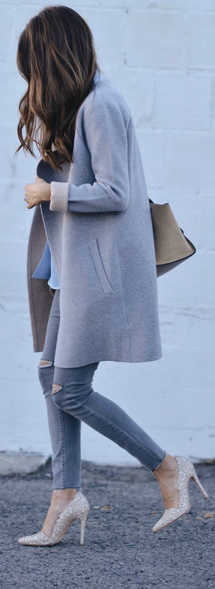 Damenmantel Straßenmode Wintermode Damen