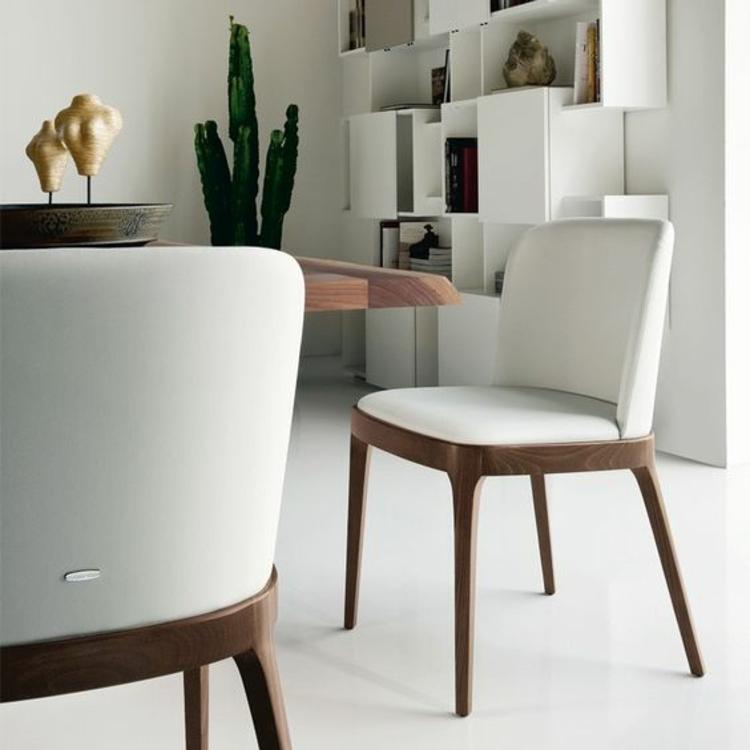 Esszimmerstühle ergonomische Stühle Polsterstühle mit Holzbeinen