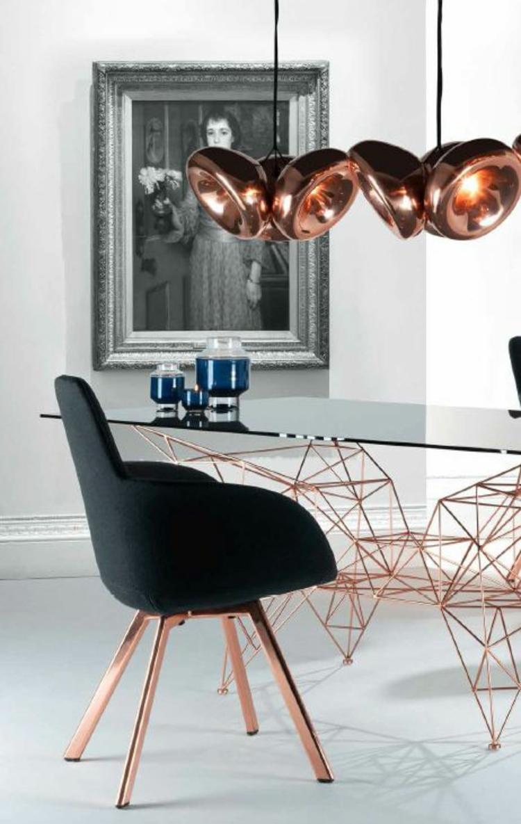 Esszimmerstühle ergonomische Stühle kupferfarbene Stuhlbeine