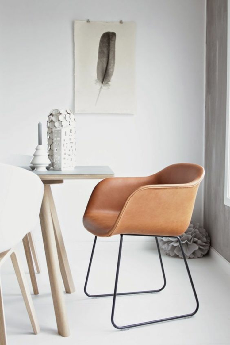 Esszimmerstühle mit modernem Design ergonomische Stühle Leder