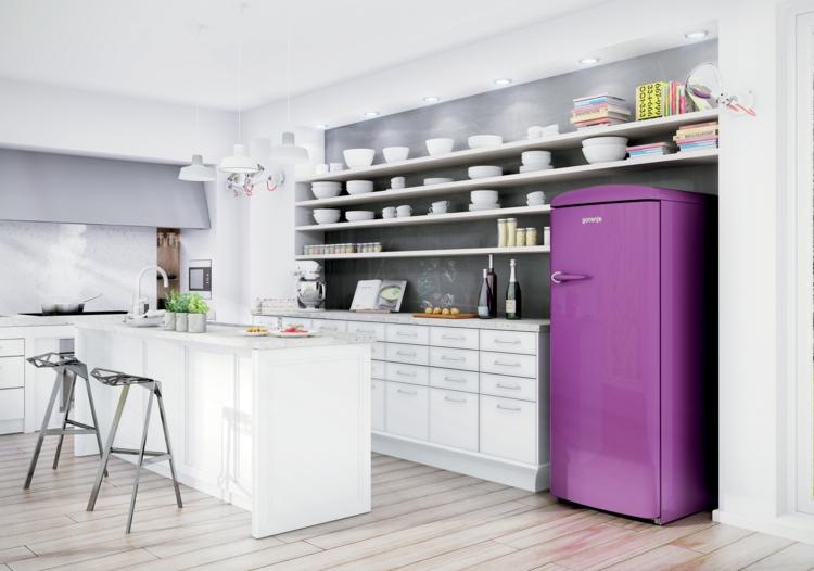 Gorenje Retro Kühlschrank Lila Küchenideen