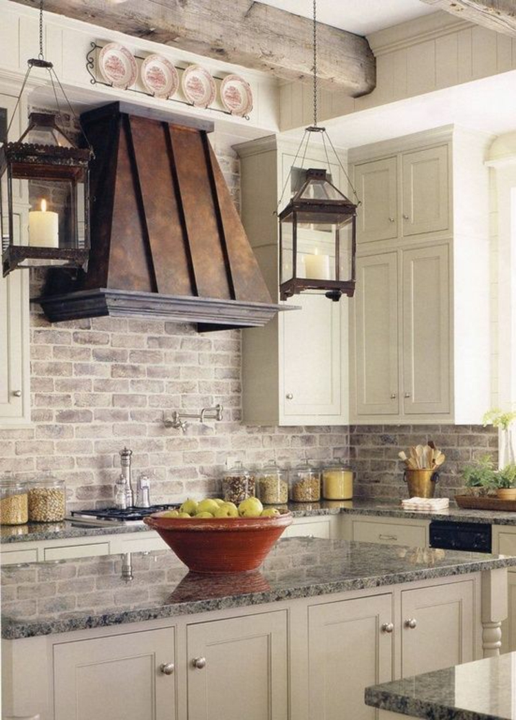 Granitarbeitsplatten Küchengestaltung Ideen Kücheninsel mit Schränken