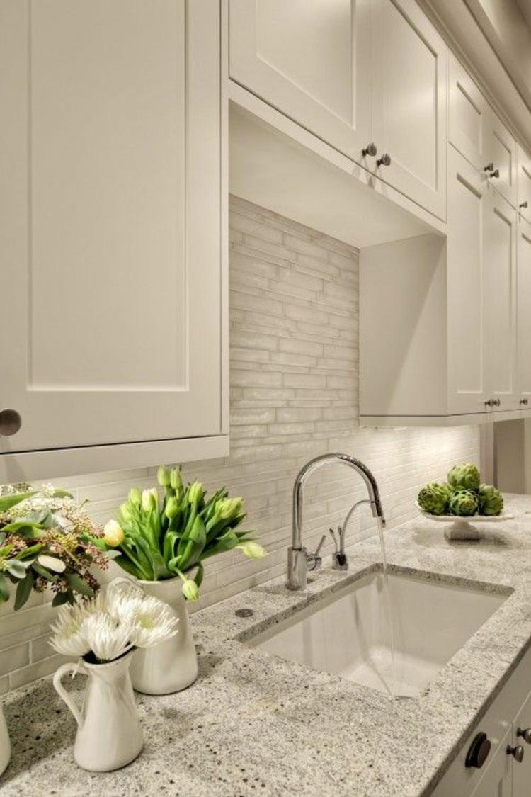 Granitarbeitsplatten Spüle Küchengestaltung Ideen Küchenschränke