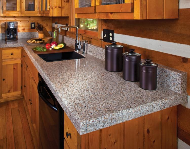 Granitarbeitsplatten Vorteile Küchengestaltung Ideen Holzküche