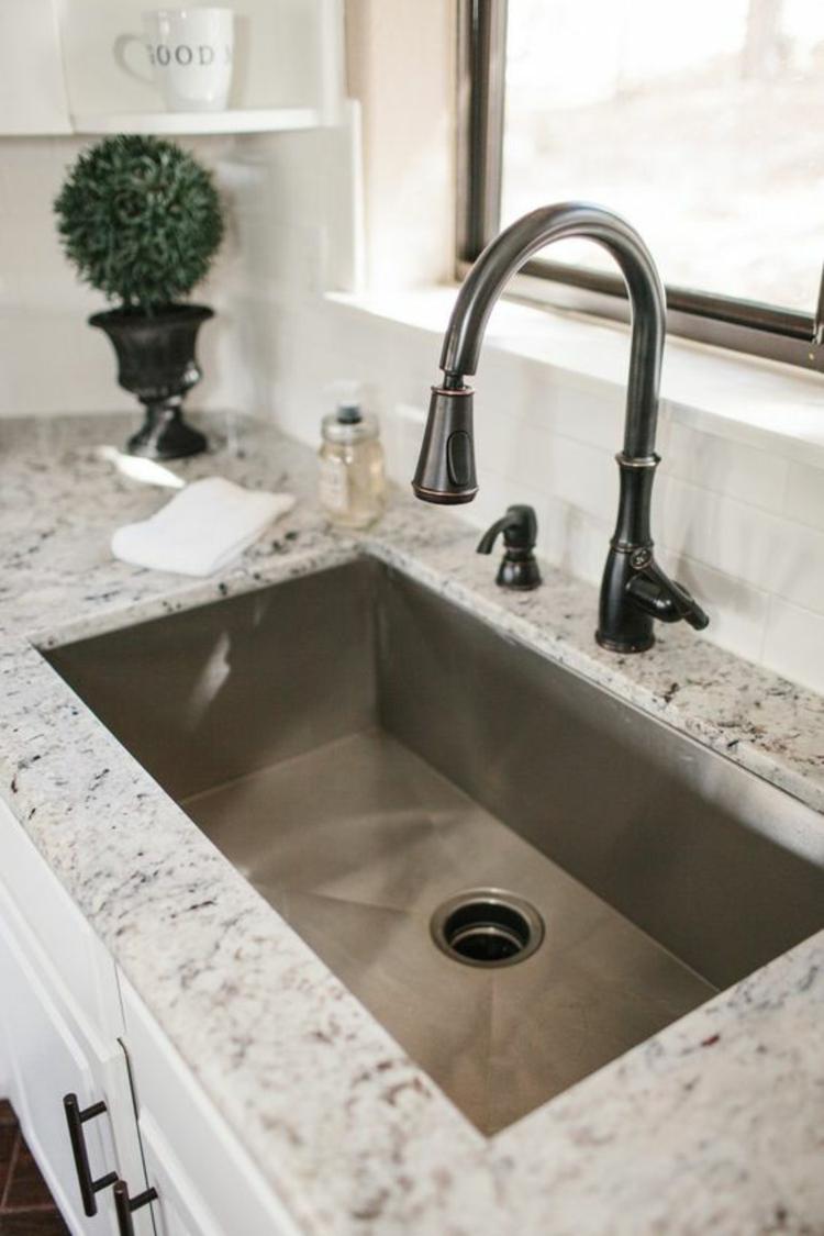 Granitarbeitsplatten Vorteile Spüle Küchengestaltung Ideen