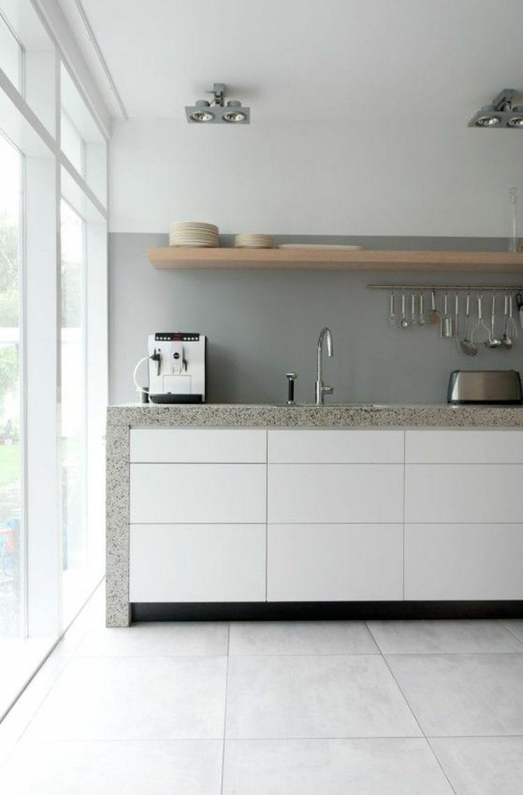 Granitarbeitsplatten Vorteile minimalistische Küchengestaltung Ideen