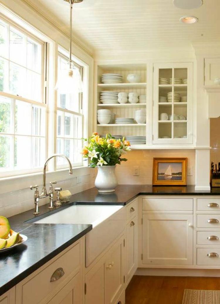 Granitarbeitsplatten Küchengestaltung Ideen Retro Stil
