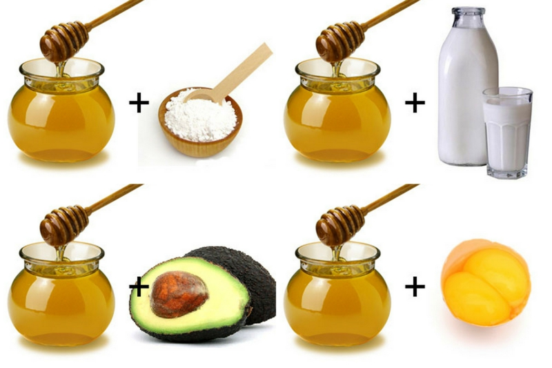 Haarpflege selber machen Haarmaske mit Honig Milk Avocado