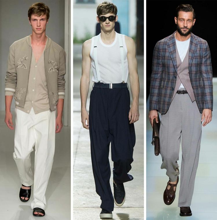 Herrenhosen 2016 Trends Farben moderne Hosen Männer Sommermode