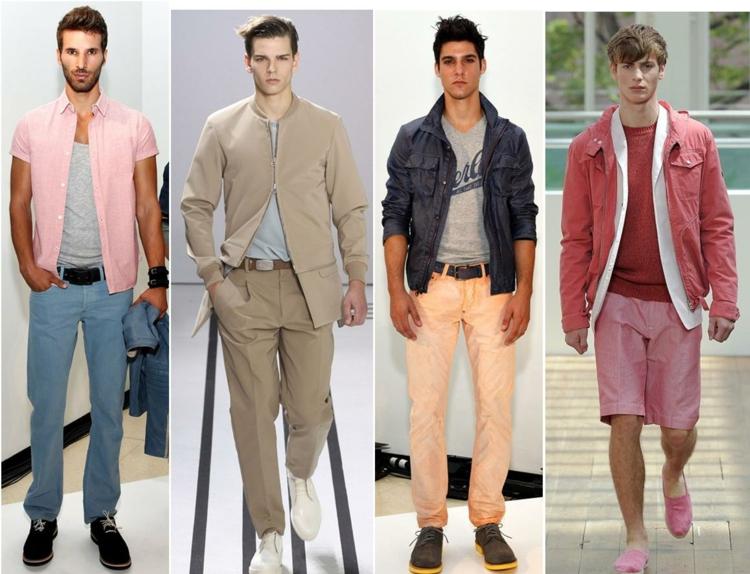 Herrenhosen 2016 Trends pastelfarben moderne Hosen Männer