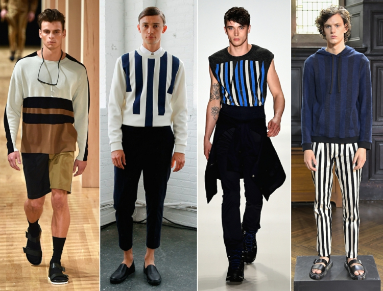 Herrenhosen Trends Streifen moderne Hosen aktuelle Männermode