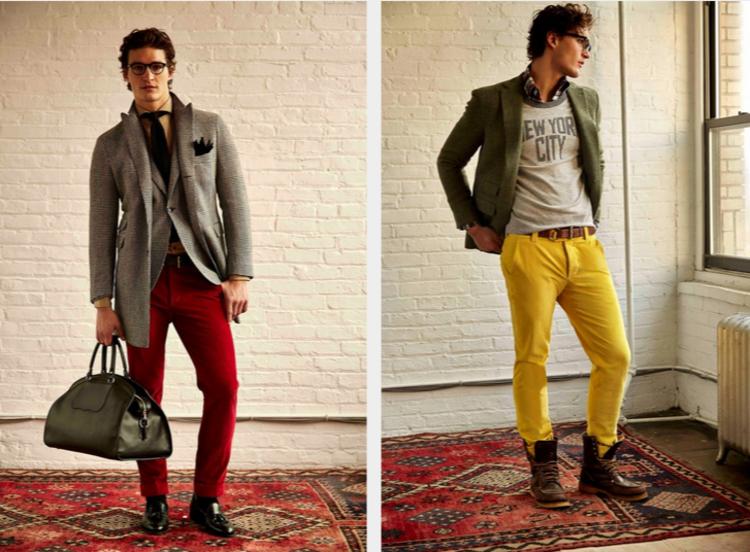 Herrenhosen Trends warme Farben moderne Hosen