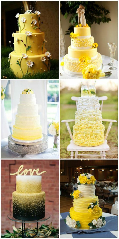 Hochzeitsfeier Ideen Gelb Hochzeitstorten Ideen