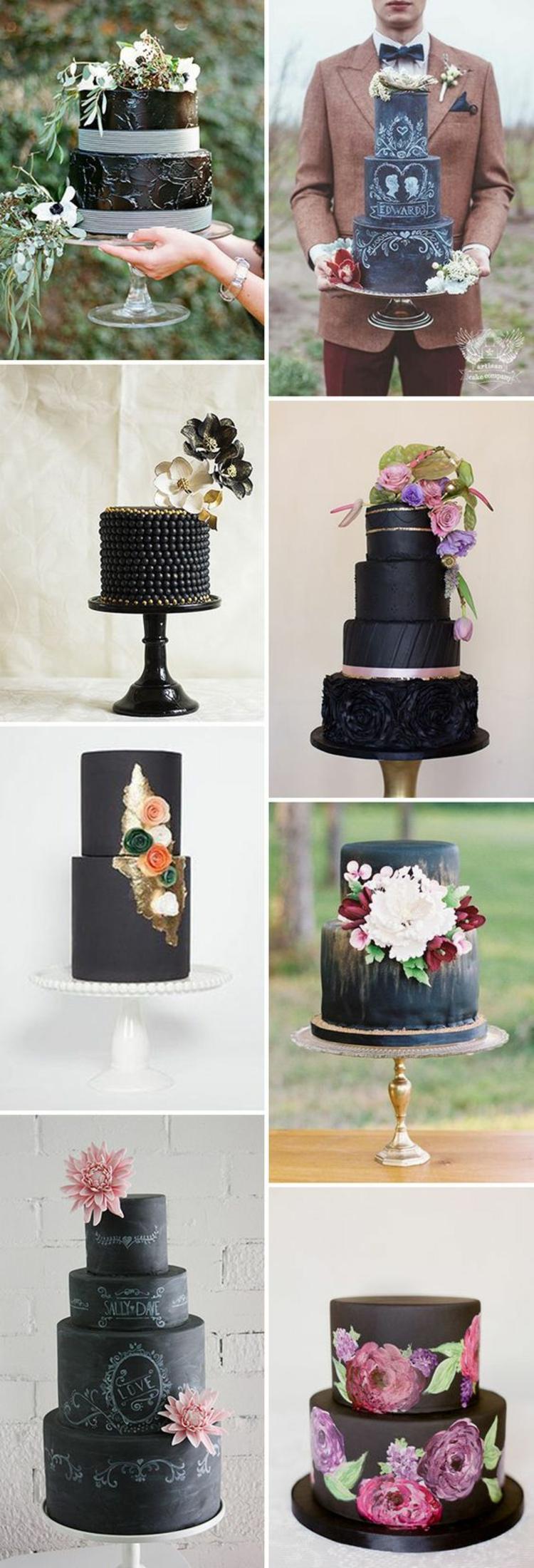 Hochzeitsfeier Ideen Schwarz Weiß Hochzeitstorten Bilder