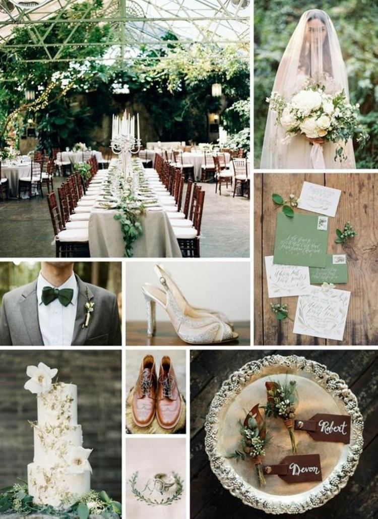 Hochzeitsfeier Ideen grüne Hochzeitsdeko selbar machen