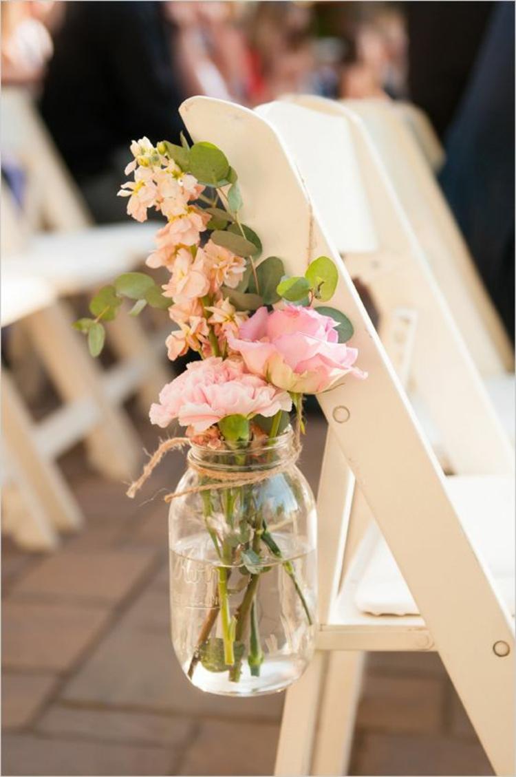 Hochzeitsfeier rustikale Hochzeitsdekoration Rosen