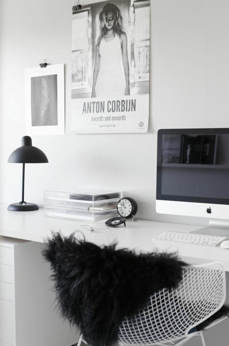 wohnzimmer planen tipps:Einrichtungsbeispiele häusliches Arbeitszimmer skandinavisch
