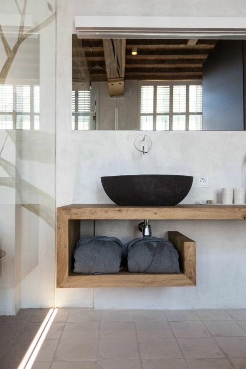 Inneneinrichtung Ideen Einrichtungsbeispiele Badmöbel Echtholz