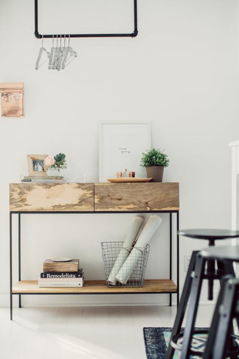 Inneneinrichtung Ideen Einrichtungsbeispiele Holzmöbel Sideboard