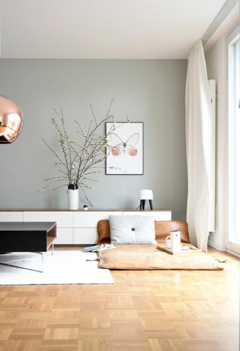 Inneneinrichtung Ideen Einrichtungsbeispiele Sitzkissen gemütliche Ecke gestalten