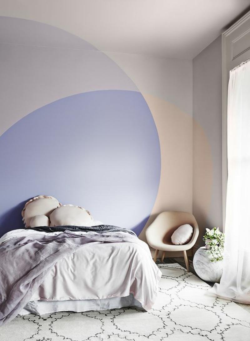 Inneneinrichtung planen Schlafzimmer Möbel Wandfarben kombinieren