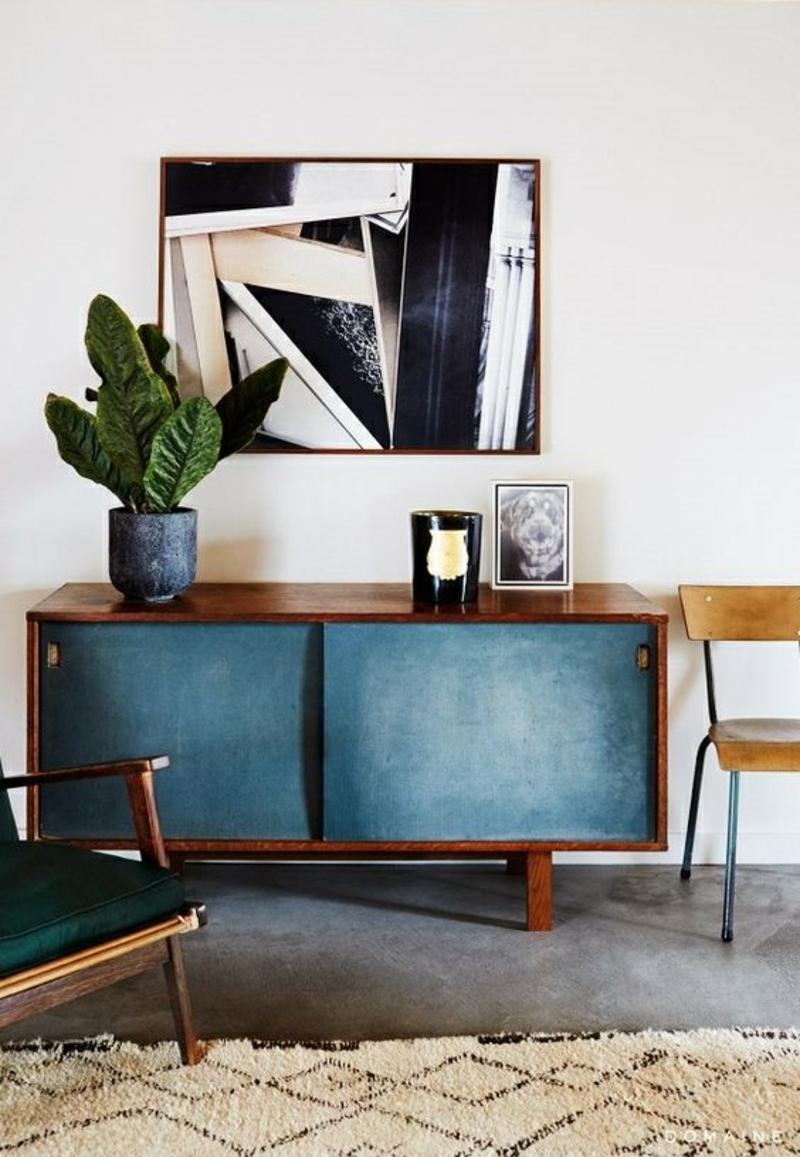 Inneneinrichtung planen Wohnzimmer Möbel Sideboards mit Schiebetüren