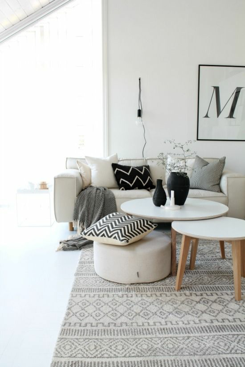 Inneneinrichtung planen Wohnzimmer Möbel Wohnzimmertische rund